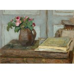 Grafika-01817 Edouard Vuillard : La palette de l'Artiste et un Vase avec des Roses, 1898