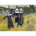 Grafika-01830 Gauguin Paul : Danse Bretonne des Filles à Pont Aven, 1888