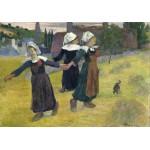 Grafika-01831 Gauguin Paul : Danse Bretonne des Filles à Pont Aven, 1888
