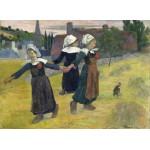 Grafika-01832 Gauguin Paul : Danse Bretonne des Filles à Pont Aven, 1888