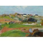 Grafika-01849 Paul Gauguin : Paysage à Pouldu, 1890