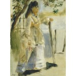 Grafika-01859 Auguste Renoir : Femme à la Barrière, 1866