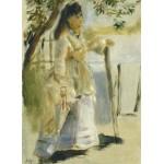 Grafika-01861 Auguste Renoir : Femme à la Barrière, 1866