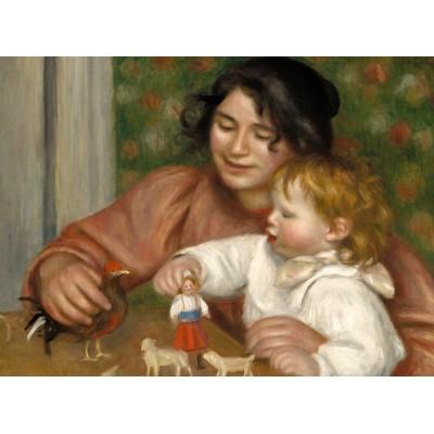 Grafika-01877 Auguste Renoir : Gabrielle et le Fils de l'Artiste, Jean, 1895-1896