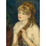 Grafika-01894 Auguste Renoir : Jeune Femme Tressant ses Cheveux, 1876