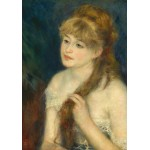 Grafika-01895 Auguste Renoir : Jeune Femme Tressant ses Cheveux, 1876