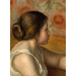 Grafika-01903 Auguste Renoir : Tête de Jeune Fille, 1890