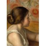Grafika-01904 Auguste Renoir : Tête de Jeune Fille, 1890
