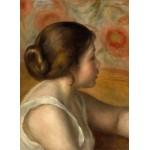 Grafika-01905 Auguste Renoir : Tête de Jeune Fille, 1890
