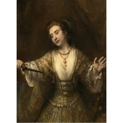 Grafika-01920 Rembrandt : Lucretia, 1664