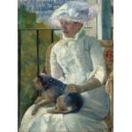 Grafika-01927 Mary Cassatt : Jeune Fille à la Fenêtre, 1883-1884