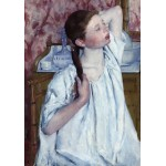 Grafika-01929 Mary Cassatt : Jeune Fille Coiffant ses Cheveux, 1886