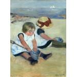 Grafika-01939 Mary Cassatt : Enfants jouant à la Plage, 1884