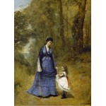 Grafika-01950 Jean-Baptiste-Camille Corot : Madame Stumpf et sa fille, 1872