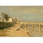 Grafika-01953 Jean-Baptiste-Camille Corot : Pont sur la Saône à Mâcon, 1834