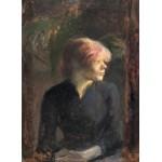 Grafika-01999 Henri de Toulouse-Lautrec : Carmen Gaudin, 1885