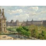 Grafika-02012 Camille Pissarro : Place du Carrousel, Paris, 1900