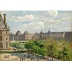 Grafika-02013 Camille Pissarro : Place du Carrousel, Paris, 1900