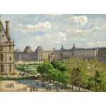 Grafika-02014 Camille Pissarro : Place du Carrousel, Paris, 1900