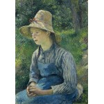 Grafika-02031 Camille Pissarro : Jeune Paysanne avec un Chapeau de Paille, 1881