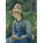 Grafika-02032 Camille Pissarro : Jeune Paysanne avec un Chapeau de Paille, 1881