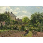 Grafika-02035 Camille Pissarro : Le Jardin de l'Artiste à Eragny, 1898