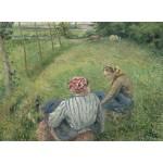 Grafika-02041 Camille Pissarro : Jeunes Paysannes se Reposant dans les Champs Près de Pontoise, 1882