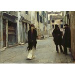Grafika-02079 John Singer Sargent : Rue à Venise, 1882