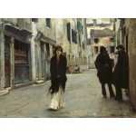 Grafika-02080 John Singer Sargent : Rue à Venise, 1882