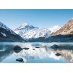 Grafika-02084 Réflexion sur le Mont Cook dans Hooker Lake, Parc national Aoraki, Nouvelle-Zélande