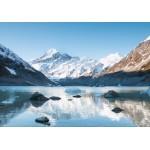 Grafika-02085 Réflexion sur le Mont Cook dans Hooker Lake, Parc national Aoraki, Nouvelle-Zélande