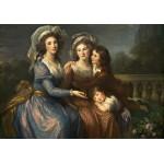 Grafika-02170 Louise-Élisabeth Vigee le Brun : La Marquise de Pezay et la Marquise de Rougé avec ses fils Alexis e
