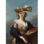 Grafika-02173 Elisabeth Vigée-Lebrun : Autoportrait au Chapeau de Paille, 1782