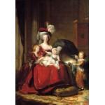 Grafika-02180 Louise-Élisabeth Vigee le Brun : Marie Antoinette et ses enfants, 1787