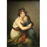 Grafika-02182 Elisabeth Vigée-Lebrun : Madame Vigée-Lebrun et sa fille, 1789