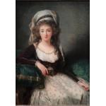 Grafika-02190 Louise-Élisabeth Vigee le Brun : Madame d'Aguesseau de Fresnes, 1789