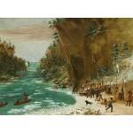 Grafika-02224 George Catlin : Campement de l'Expedition au-dessous des Chutes de Niagara. Le 20 janvier 1679, 1847