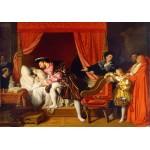 Grafika-02251 Jean-Auguste-Dominique Ingres : François Ier reçoit les derniers soupirs de Léonard de Vinci, 1818