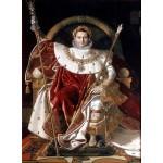 Grafika-02254 Jean-Auguste-Dominique Ingres : Napoléon sur le trône impérial, 1806