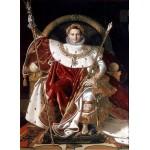 Grafika-02255 Jean-Auguste-Dominique Ingres : Napoléon sur le trône impérial, 1806