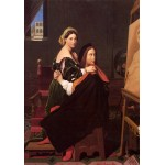 Grafika-02260 Jean-Auguste-Dominique Ingres : Raphaël et la Fornarina, 1814