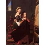 Grafika-02261 Jean-Auguste-Dominique Ingres : Raphaël et la Fornarina, 1814