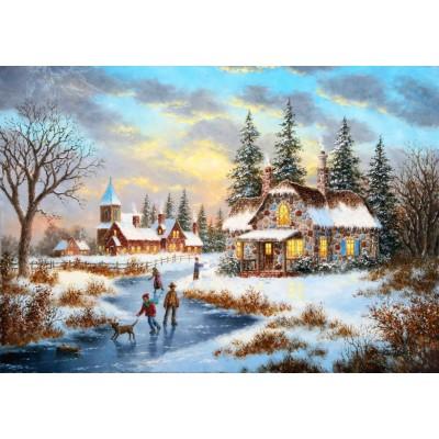 Grafika-02498 Dennis Lewan - A Mid-Winter's Eve
