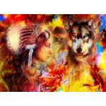 Grafika-02676 La Femme Indienne et le Loup