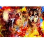 Grafika-02677 La Femme Indienne et le Loup