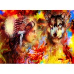 Grafika-02678 La Femme Indienne et le Loup
