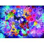 Grafika-02718 Fleurs et Papillons Colorés