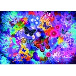 Grafika-02719 Fleurs et Papillons Colorés