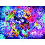 Grafika-02720 Fleurs et Papillons Colorés