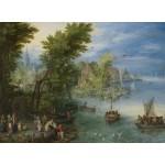 Grafika-02795 Jan Brueghel - River Landscape, 1607